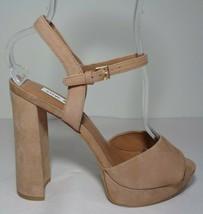 Steve Madden Size 9.5 M KIERRA Tan Leather Heeled Sandals New Women's Shoes - $107.91