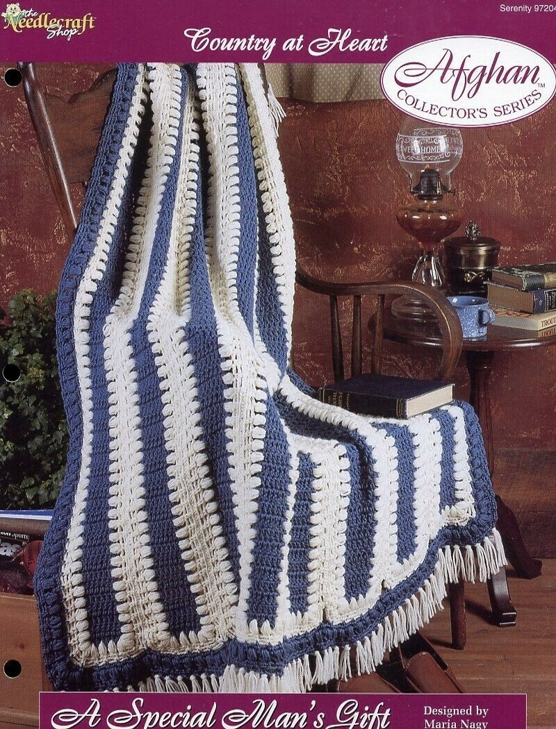 Primary image for A Special Man's Gift Afghan TNS Country At Heart Crochet PATTERN/INSTRUCTIONS
