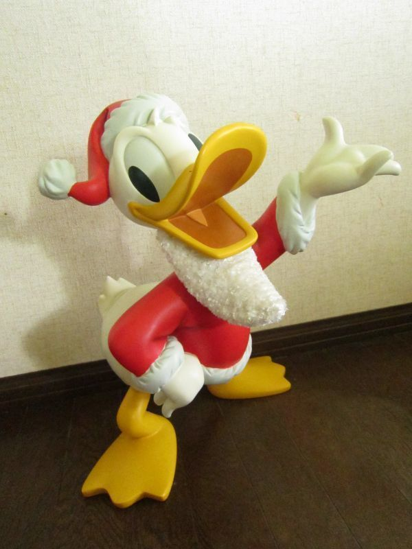Primary image for Disney Santa Claus  Donald Duck Christmas Greetings Big figure Doll ornament