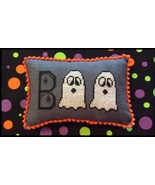 Ghostly Boo halloween chart cross stitch chart Needle Bling Designs  - $6.00