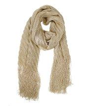 Modadorn Metallic Ribbed long rap, shawl Scarf Gold Women's fashion, clo... - $12.86