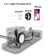 Apple Charging Dock 3 In 1 Docking Station Iphone X 5 6 8 7 Plus Watch Series 3 image 2