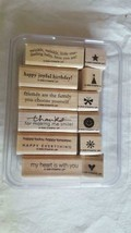 2006 STAMPIN' UP 12 RUBBER MOUNTED INSPIRATIONAL STAMP SET,ART,CRAFTS,EM... - $5.67