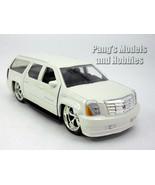 5.5 inch Cadillac Escalade ESV Custom Lowrider Scale Diecast Model - White - $13.85