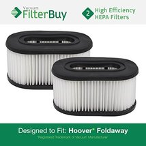 2 Hoover Foldaway and WidePath Filters. Designed by FilterBuy to Replace... - $11.99