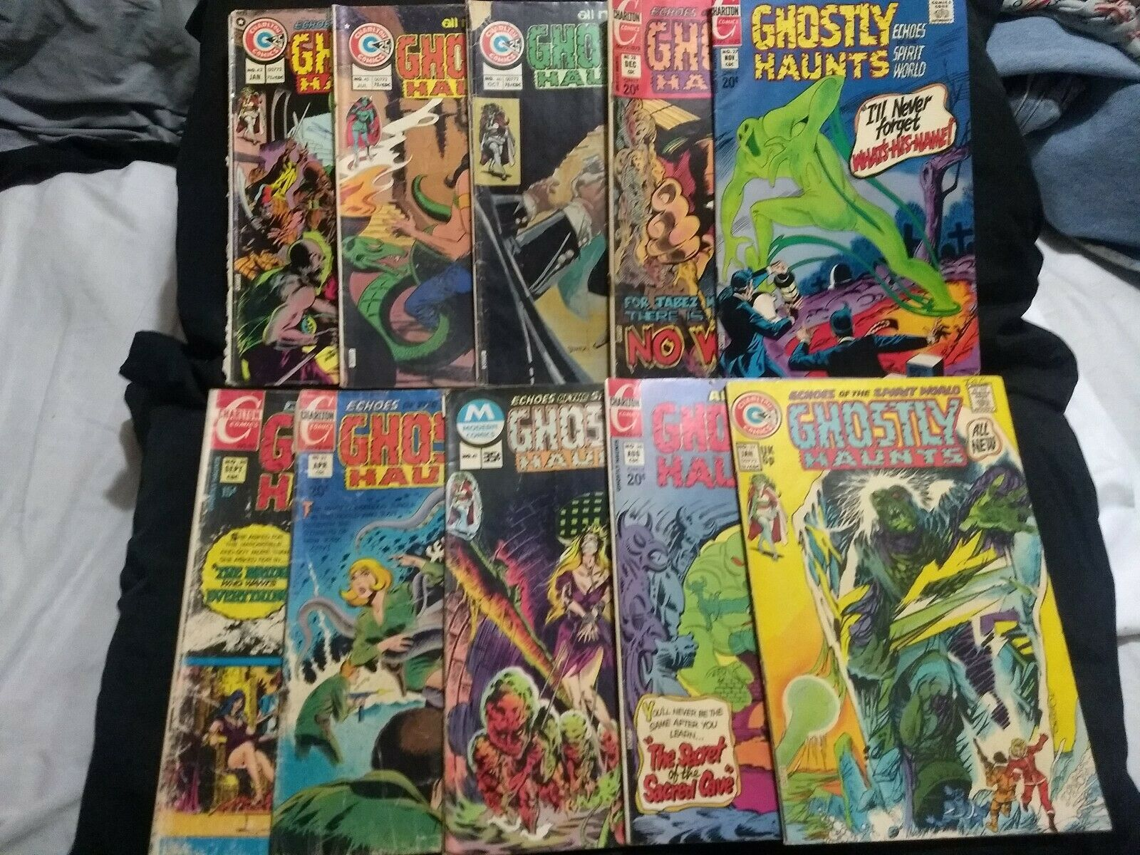 Ghostly Haunts  10 book collection #20/26-28/31/37/41/42/45/46 (1971,charlton)VG - $45.00