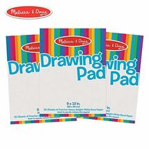 Melissa & Doug Drawing Paper Pad, 3-Pack of Large Drawing Pads, Pages Te... - $12.62