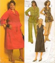 Misses Career Office Work Top Dress Shorts Pants Plus Size Sew Pattern 1... - $12.99