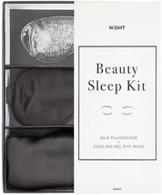 NIGHT Beauty Sleep Kit - Silk Pillowcase + Eye Mask With Cooling Gel - $34.40