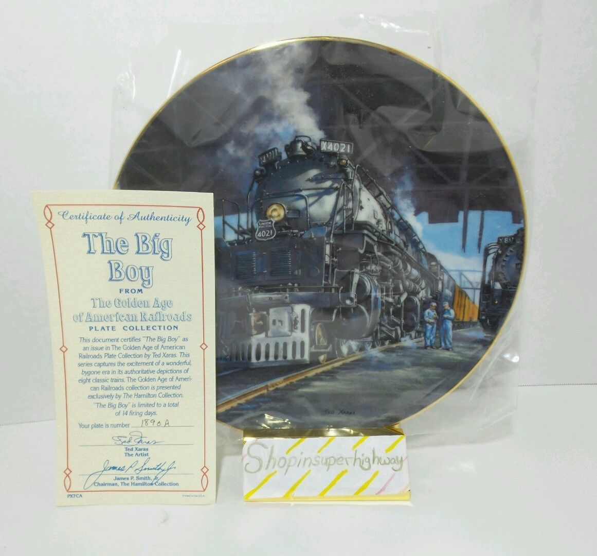 The Big Boy Golden Age American Railroads Authentic Collectible Plate