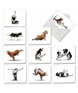 The Best Card Company - 20 Blank Yoga Animal Cards 4 x 5.12 Inch - All O... - $18.75