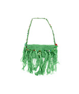 Hand Knit Bag with Colored Bead Lining - $34.54