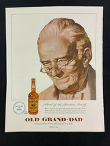 Old Grand Dad Whiskey Advertising Magazine Ad 10.75 x 13.75 Rumpp Wallet - $9.89