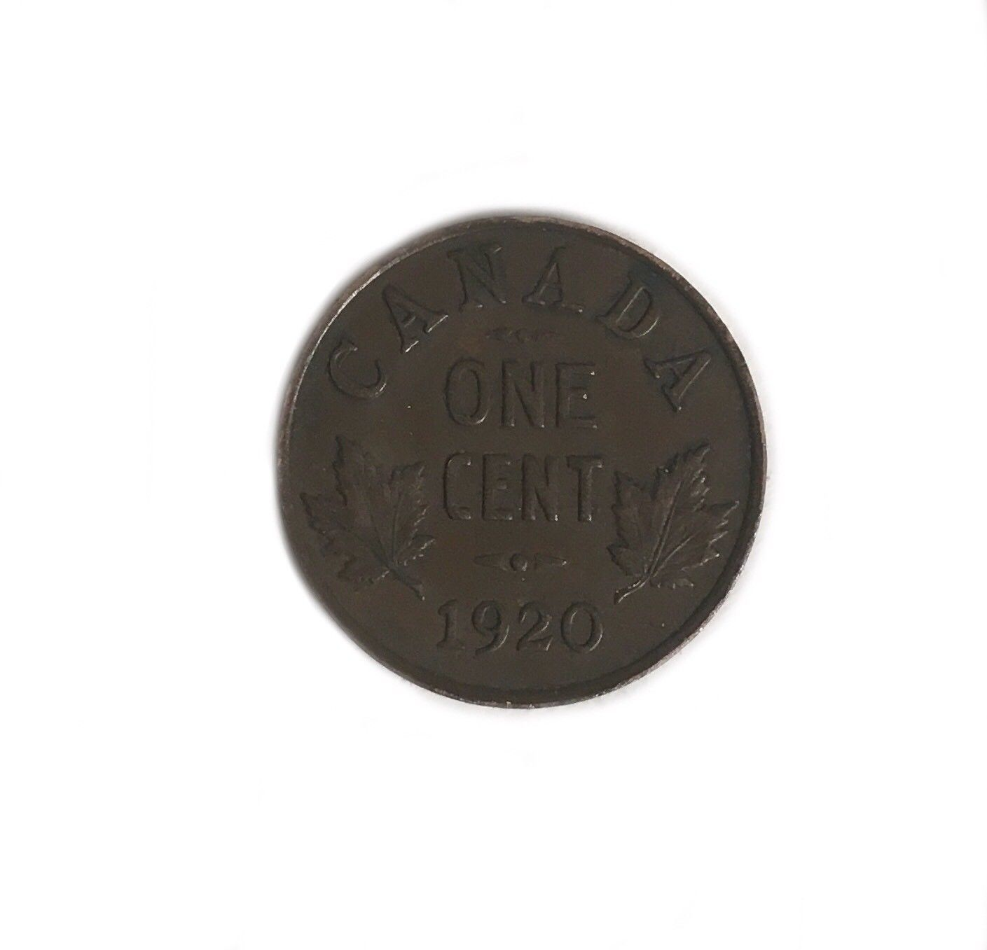 1920 Canadian Penny George V One Small Cent Coin Antique