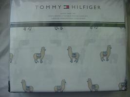 Tommy Hilfiger Llamas Alpacas on White Sheet Set Queen - $43.00