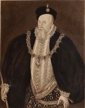 1896 ANTIQUE PRINT (QUEEN ELIZABETH I) THE EARL OF LEICESTER - $76.56