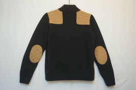 Lauren Ralph Lauren HEAVY Full-Zip Sweater, Leather Elbow, Shoulder Patc... - $21.68