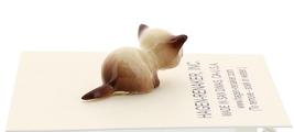 Hagen-Renaker Miniature Cat Figurine Tiny Siamese Kitten Lying Chocolate Point image 2