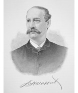 DAVID MOFFAT Colorado Banker & Railroad President  - 1895 Portrait Antiq... - $9.45