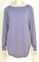 Michael Stars top tunic SZ S NWT gray dolman sleeves asymmetrical USA - $49.49