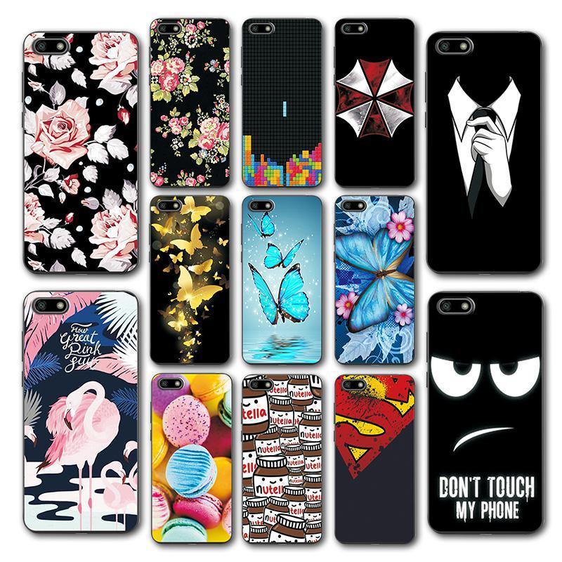 "For Huawei Honor 7S 5.45"" Case Huawei 7S Cover Soft TPU Various Coque Honor 7S 7"