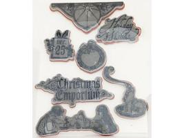 Graphic 45 Christmas Emporium Rubber Cling Stamp Set