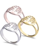 TREE OF LIFE RING: STERLING SILVER, 24K GOLD, ROSE GOLD  - $75.99
