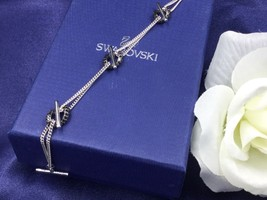 Authentic Swan Signed Swarovski Manhattan Sterling Silver Bracelet 1065968 New - $75.00