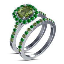 14k White Gold Fn 925 Sterling Silver Disney Tiana Princess Engagement Ring Set - $87.99