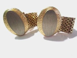 WRAP AROUND STYLE PEWTER ON GOLD TONE PLATED METAL MID CENTURY CAN BE EN... - $23.00