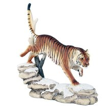 Wildlife Bengal Tiger Trotting On Snowcap Rocks 11 Inch Collectible Figu... - £24.14 GBP