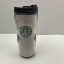 VTG 2001 Starbucks Barista Coffee Cup Curvy Travel Mug Tumbler w/Lid 16 oz - $18.70