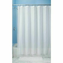InterDesign Carlton Fabric Shower Curtain, Wide, 108 x 72, White NIP - $22.20