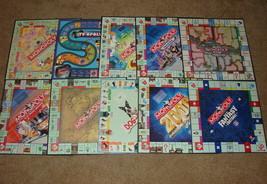 Lot of 10 Monopoly Game Boards ONLY - Spongebob Dog-opoly LOTR Littlest Petshop - $10.00