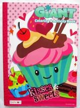 Kisses and Sweets Jumbo Coloring & Activity Book NEW Bendon Tear and Sha... - $2.99