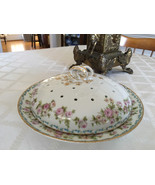 large Antique Butter dish GOA France pattern 255 Gerard Durfraiss and About - $85.00