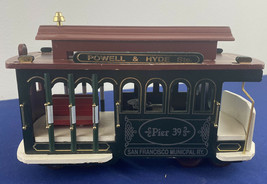 VIntage 1991 San Fran Music Box Company Trolley Pier 39 - $24.99