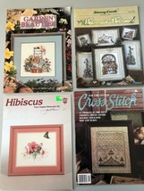 Lot of 4 Vintage Cross Stitch Booklets - $8.17