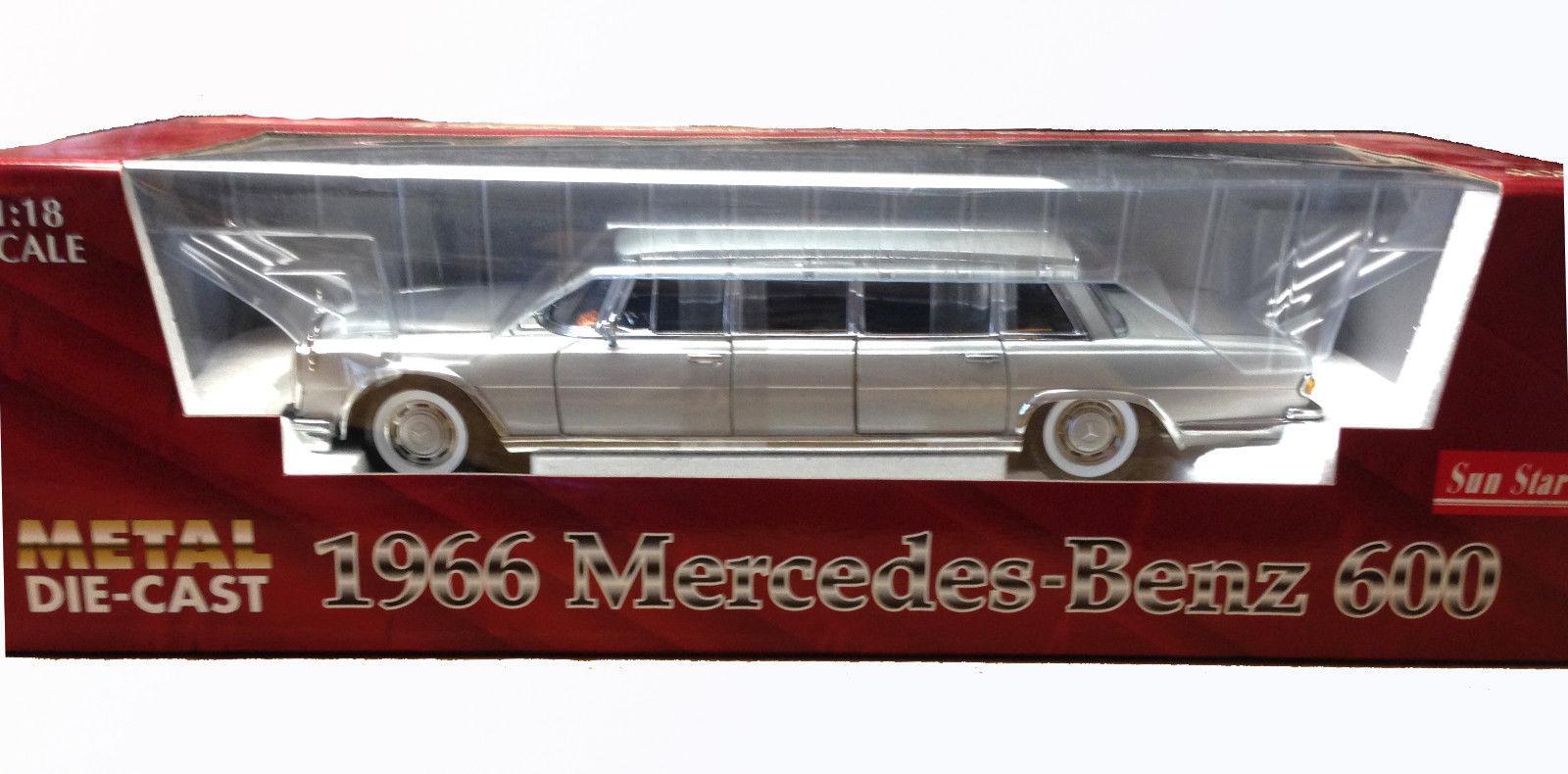 Sun Star silver 1966 Mercedes-Benz 600 DIECAST SCALE 1:18 #2201