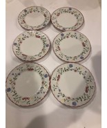 "6 Johnson Bros Summer Chintz China Dessert Bread & Butter Plates 6"" Pink... - $34.99"
