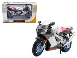 Aprilia RSV 1000 White Motorcycle 1:12 Diecast Model by Maisto - $24.27