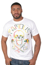 Famous Stars and Straps Life's A Beach White Fitted Premium Tee T-Shirt