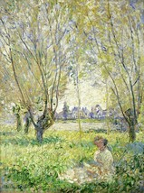 Woman Seated under the Willows Painting by Claude Monet Art Reproduction - $33.99+