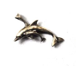 Sterling Silver Sunwest Mother & Baby Dolphin Pendant 34mm x 22mm - €27,52 EUR