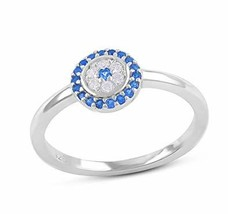 Sterling Silver Thin Stackable Cz Evil Eye Ring - Size 7 - $17.95