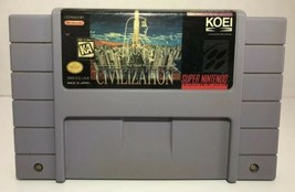 CIVILIZATION Super Nintendo SNES 1995 KOEI Sid Meiers Strategy Cartridge... - $32.85