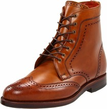 Men Tan brown wingtip brogue boots, Men lace up ankle boots, Boots for men - $169.99