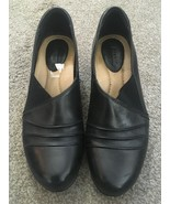 Womens Earth Daytripper Black Leather Upper Low Heels Pumps Shoes Size 8.5B - $39.99