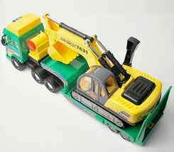 Daesung Toys Melody Shovel Trailer Truck Forklift Car Vehicle Construction Toy image 4