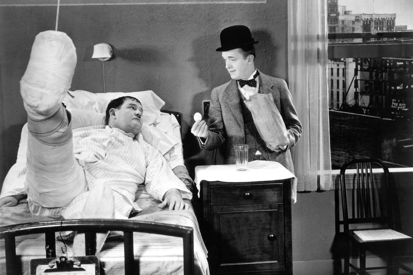 Primary image for Stan Laurel and Oliver Hardy in Laurel and HardyCounty Hospital 18x24 Poster